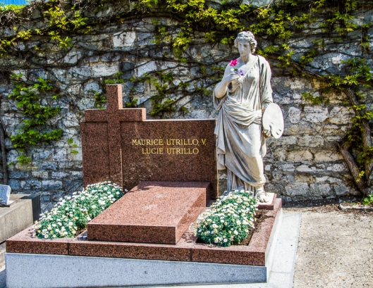 Maurice Utrillo V  burial place at Saint-Vincent Cemetery!
