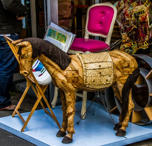 How about an 1800's wooden horse?
