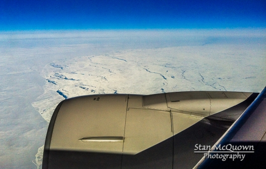 Over ice covered Iceland!