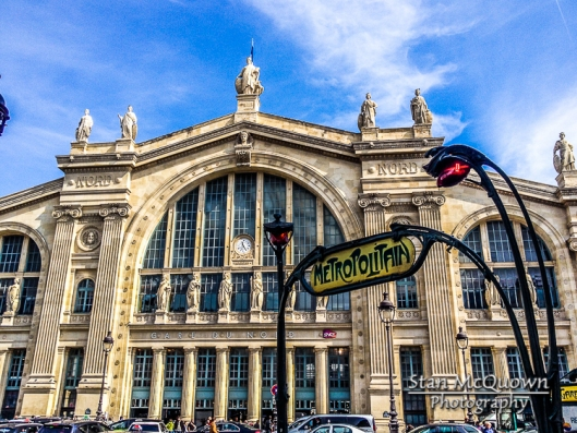 Exterior shot of Gare du Nord!