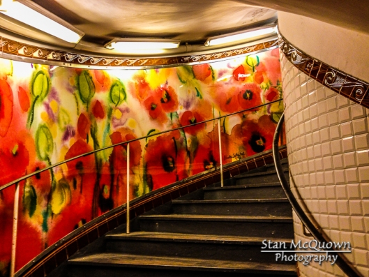 The beautiful walk up the 140 stairs of the Abbesses Metro!