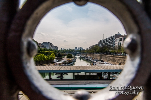 A view onto the Bassin de l'Arsenal.