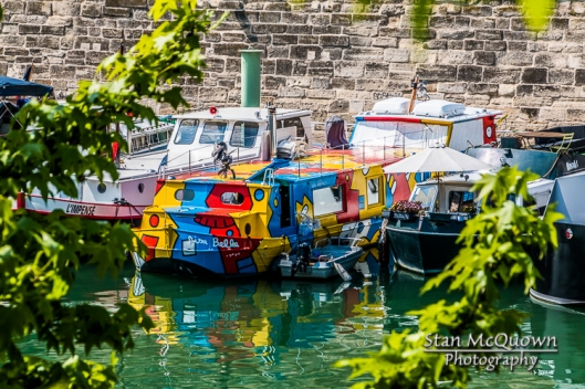 Colorful boat of the Port de l'Arsneal