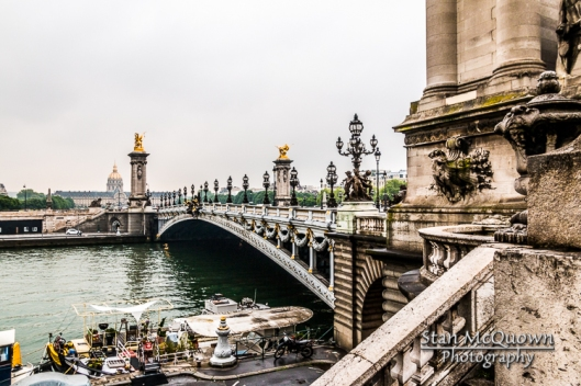 The Champs-Élysées Port below the Pont Alexandre III and Seine River with the  Invalides in the background!