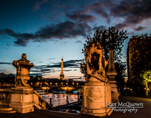 Pont Alexandre III, the Seine River, Horse Chestnut Trees and the Eiffel Tower!