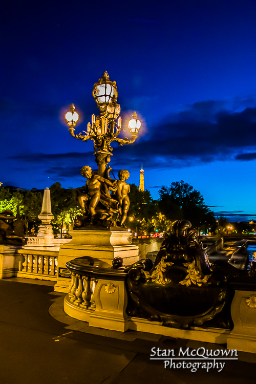 Pont Alexandre III, Street Lamps and the Eiffel Tower!