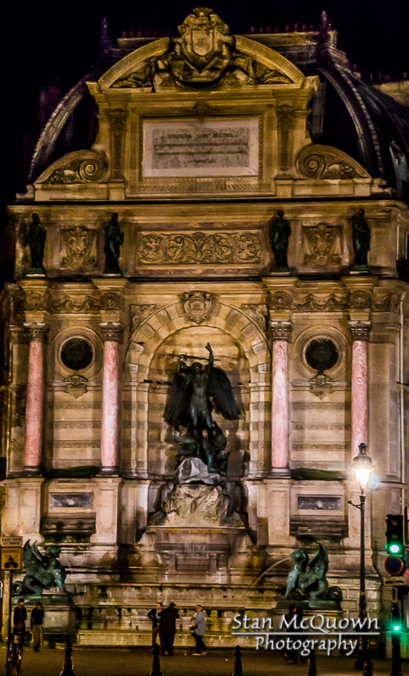 The Fontaine Saint-Michel!