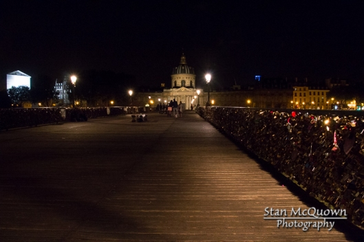 Pont des Arts and the Institut de France and Padlocks!