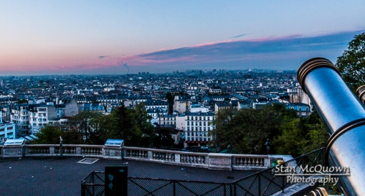 Some sunrise color over Paris at the footsteps of Sacre Coeur!