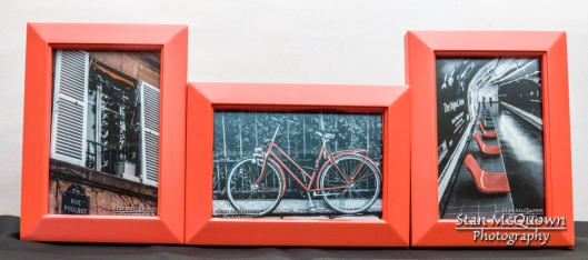 Set of 3 different Orange framed photos!