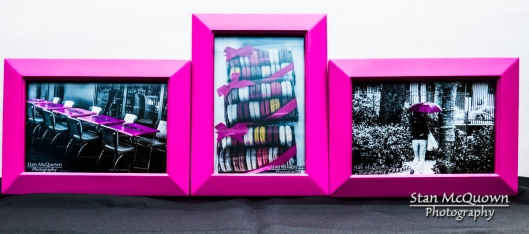 Set of 3 different Hot Pink framed photos!